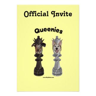 Queenies Chess Dogs Custom Announcements