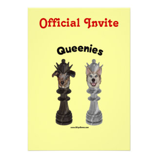 Queenies Chess Dogs Personalized Announcement