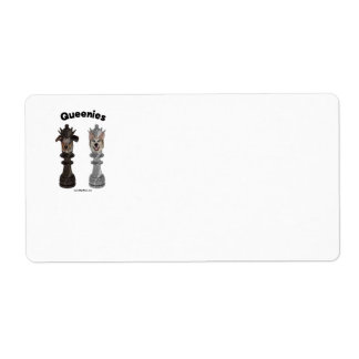 Queenies Chess Dogs Shipping Label