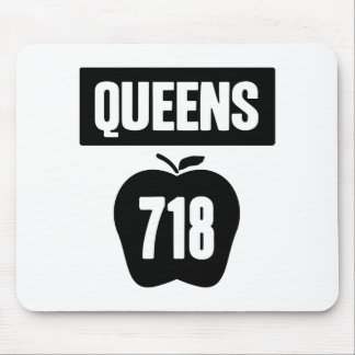 Queens 718 Cut Out of Big Apple Banner 1 Color Mousepad