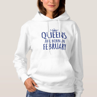 queens are born in february Hoodies
