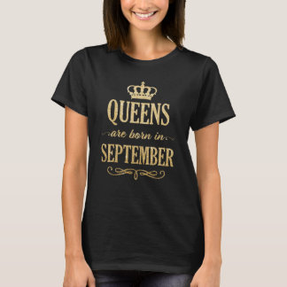 Queens are born in September Gold womens shirt
