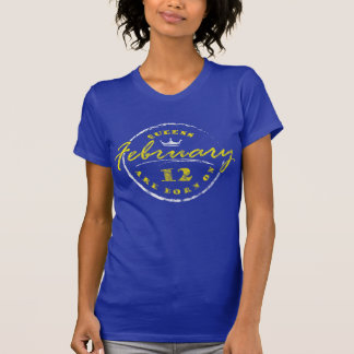 Queens Are Born On February 12 (Washed & Worn) T-Shirt