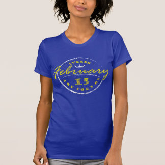 Queens Are Born On February 15 (Washed & Worn) T-Shirt