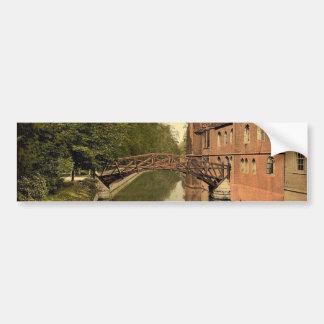 Queen's College Bridge, Cambridge, England classic Bumper Sticker