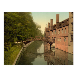 Queens' College Bridge, Cambridge, England Postcard