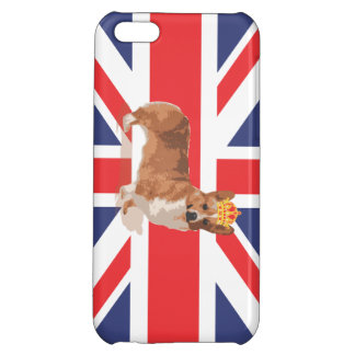 Queen's Corgi with Crown and Union Jack Flag Case Cover For iPhone 5C