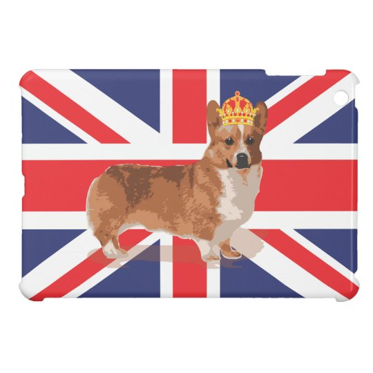 Queen's Corgi with Union Jack Flag ipad iPad