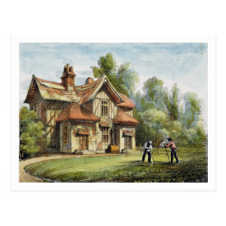 Queen's Cottage, Richmond Gardens, plate 17 from ' Postcard