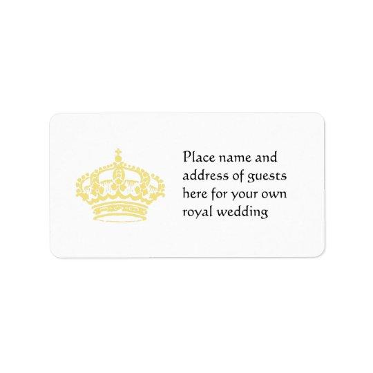 Queen's Crown in Gold Address Label