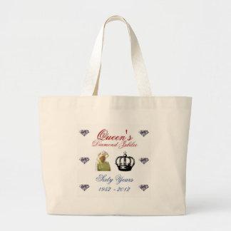 Queens Diamond Jubilee 1952-2012 60 Years Jumbo Tote Bag