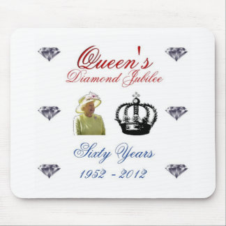 Queens Diamond Jubilee 1952-2012 60 Years Mouse Pad