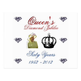 Queens Diamond Jubilee 1952-2012 60 Years Postcard
