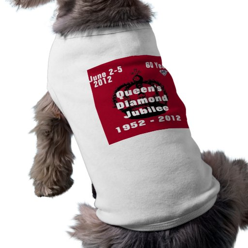 Queens Diamond Jubilee 1952-2012 Dog Shirt