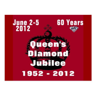 Queens Diamond Jubilee 1952-2012 Postcard