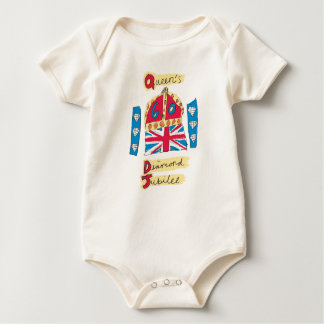 Queen's Diamond Jubilee 2012 Official Color Emblem Baby Bodysuit
