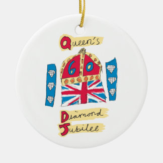 Queen's Diamond Jubilee 2012 Official Color Emblem Christmas Ornament