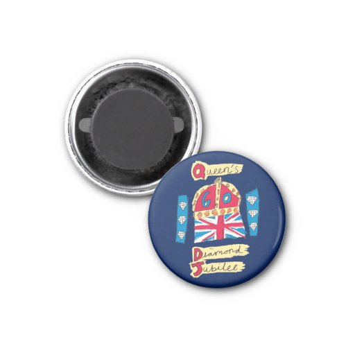 Queen's Diamond Jubilee 2012 Official Color Emblem Refrigerator Magnets