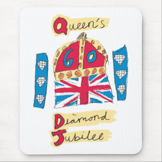 Queen's Diamond Jubilee 2012 Official Color Emblem Mouse Pad