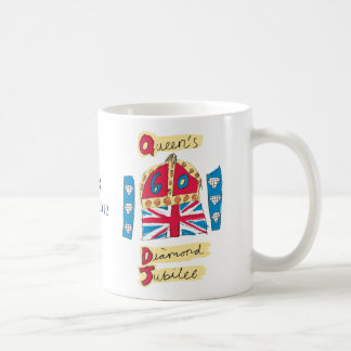 Queen's Diamond Jubilee 2012 Official Color Emblem Coffee Mugs