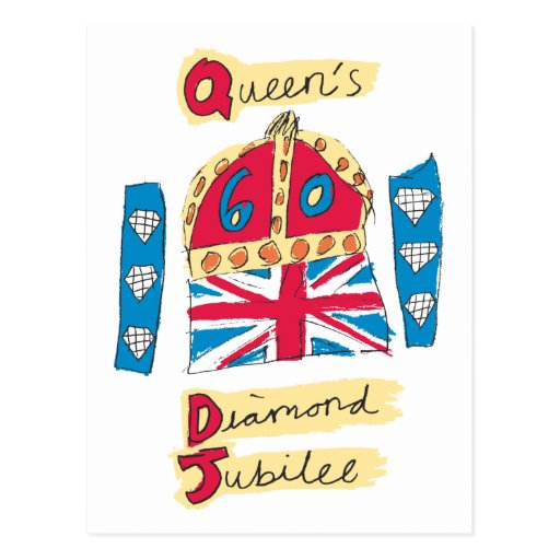 Queen's Diamond Jubilee 2012 Official Color Emblem Postcards