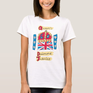 Queen's Diamond Jubilee 2012 Official Color Emblem T-Shirt