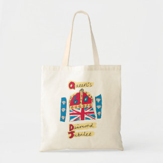 Queen's Diamond Jubilee 2012 Official Color Emblem Budget Tote Bag