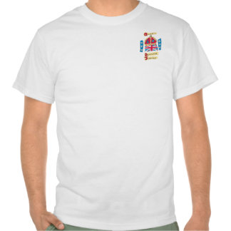 Queen's Diamond Jubilee 2012 Official Color Emblem Tee Shirts