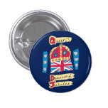 Queen's Diamond Jubilee 2012 Official Colour Emble Pin