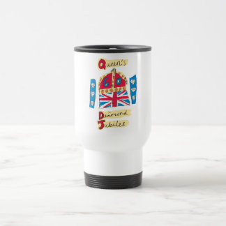 Queen's Diamond Jubilee 2012 Official Colour Stainless Steel Travel Mug