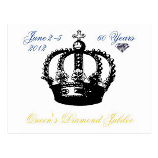 Queens Diamond Jubilee 2012 Postcard