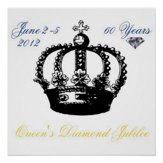 Queens Diamond Jubilee 2012 Poster