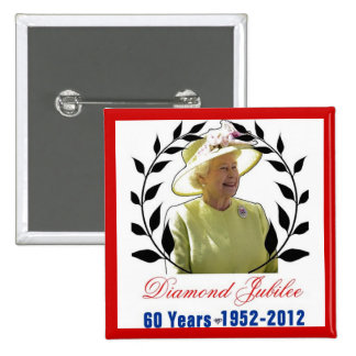 Queens Diamond Jubilee 60 Years Button
