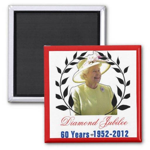 Queens Diamond Jubilee 60 Years Magnet