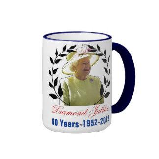 Queens Diamond Jubilee 60 Years Mug Ringer Mug