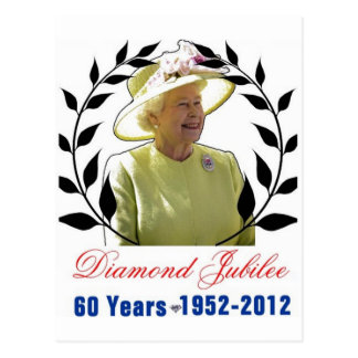 Queens Diamond Jubilee 60 Years Postcard