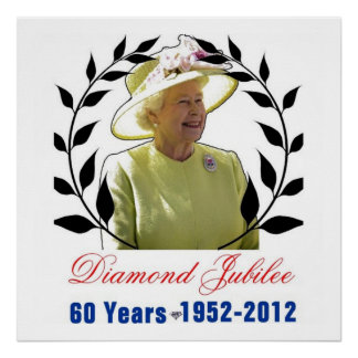 Queens Diamond Jubilee 60 Years Poster