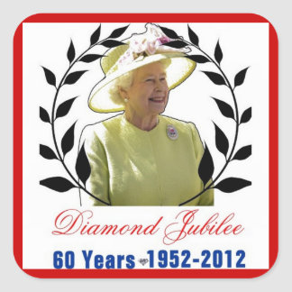 Queens Diamond Jubilee 60 Years Stickers