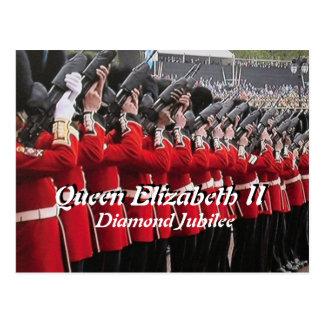 Queens Diamond Jubilee guns salute postcard