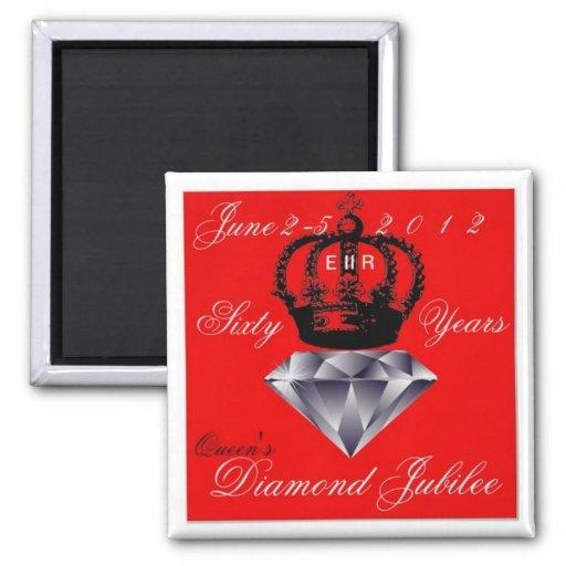Queens Diamond Jubilee Magnet