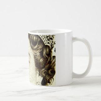Queens Elizabeth II on 50 pound note. Coffee Mug