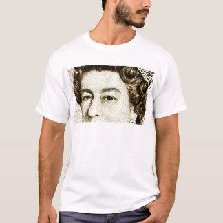 Queens Elizabeth II on 50 pound note. T-Shirt