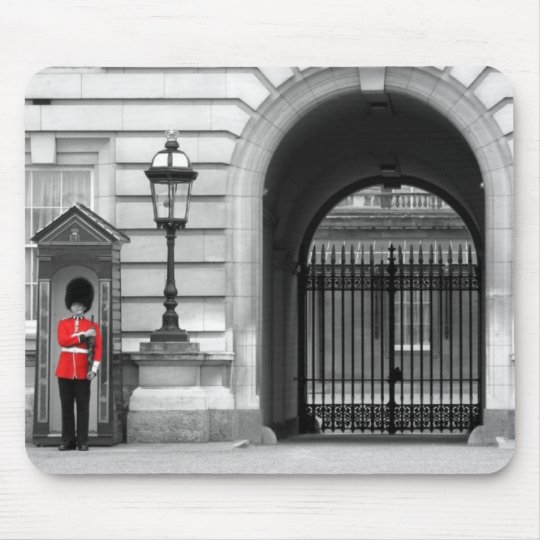 Queen's Guard Keeping Watch Mouse Pad