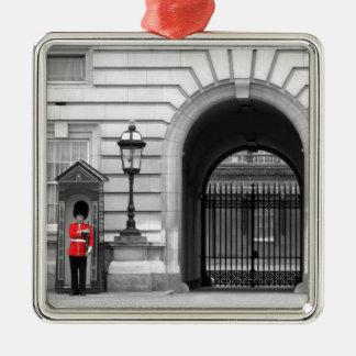 Queen's Guard Keeping Watch Silver-Colored Square Decoration