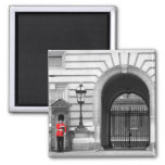 Queen's Guard Keeping Watch Square Magnet