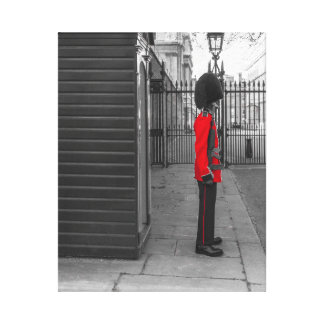 Queen's Guard standing guard at Clarence House Canvas Print
