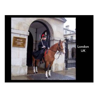 Queens guards,  London UK postcard