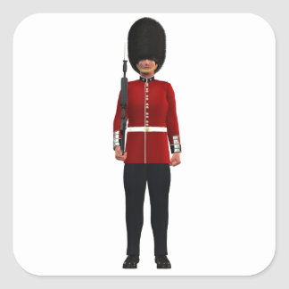Queen's Guardsman Square Sticker