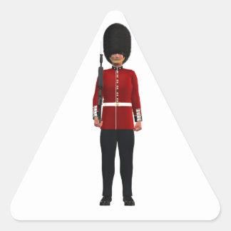 Queen's Guardsman Triangle Sticker