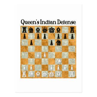 Queen's Indian Defense Postcard